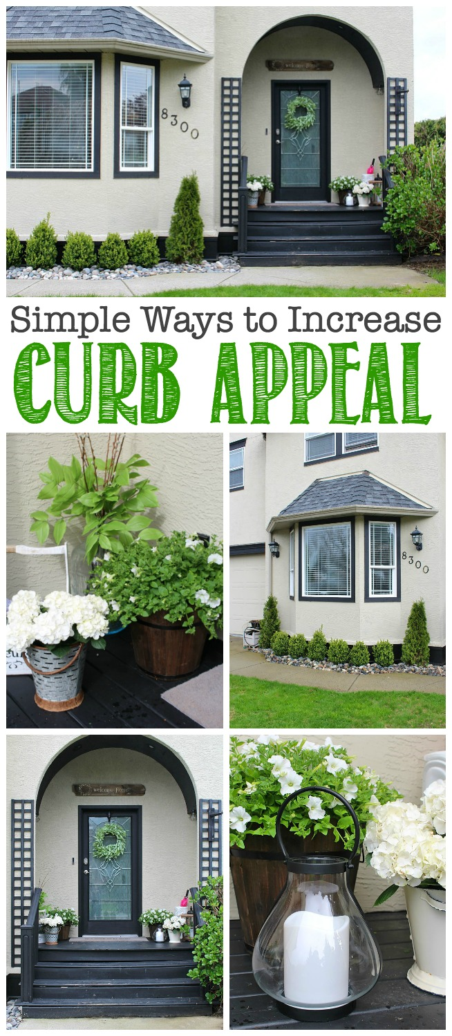 Collection of ideas to increase your home's curb appeal including landscaping, lawn care, and design ideas.