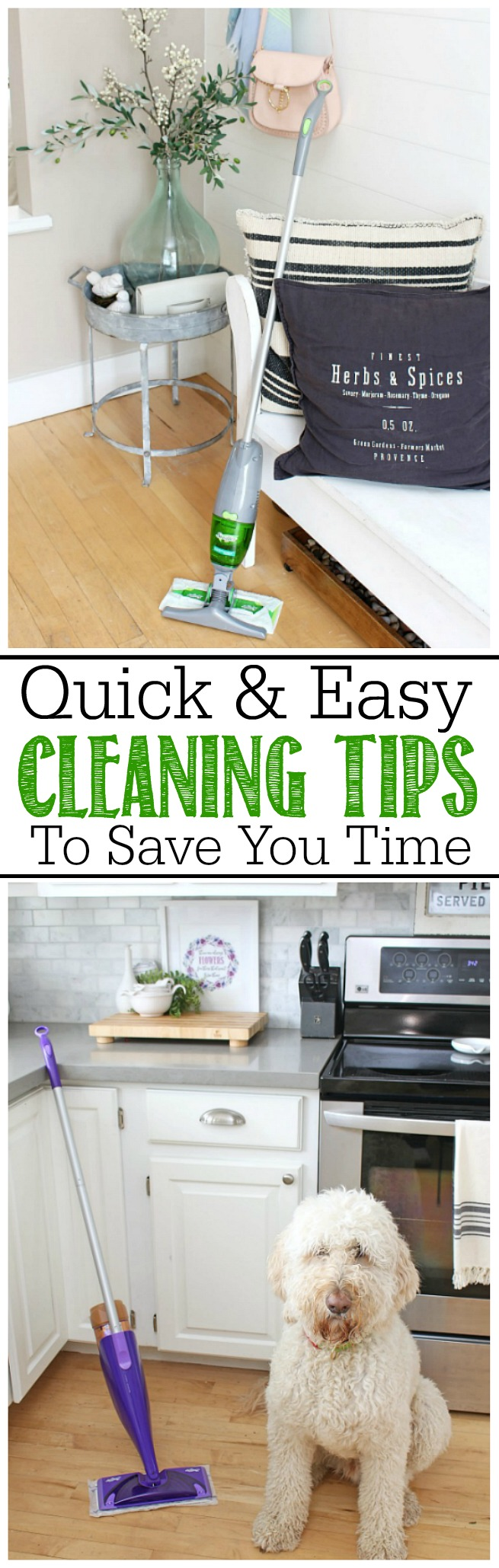 SAVE TIME with these simple cleaning tips.