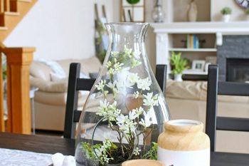 Pretty Spring Terrarium – 10 Minute Decorating Ideas