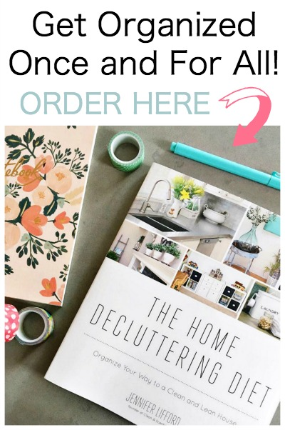 The Home Organization Diet. Put your home on a diet for a clutter-free, happy, and healthy home!