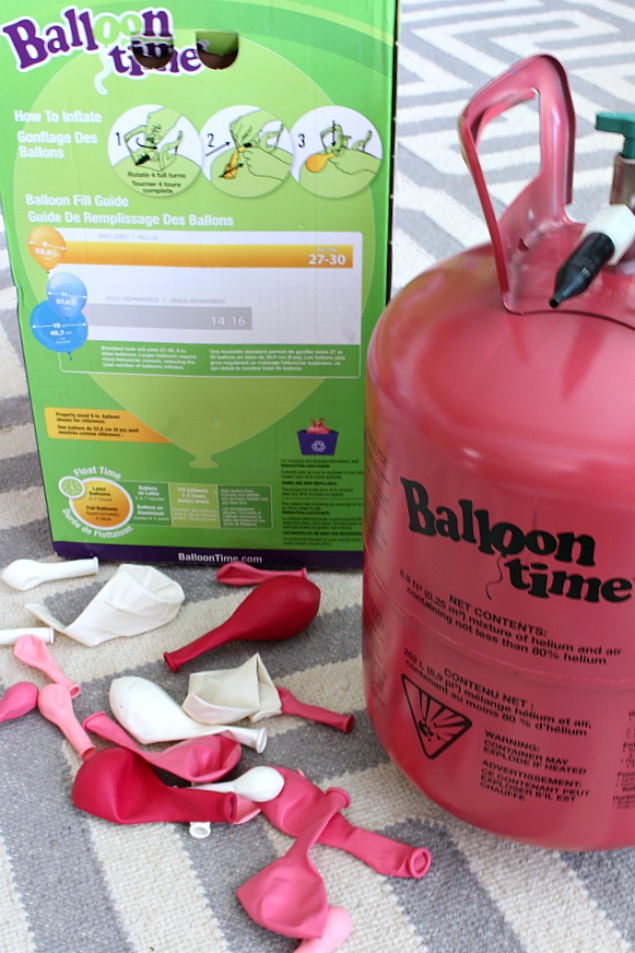 Ballon Time Helium Tank - blow up helium balloons at home quickly and easily.