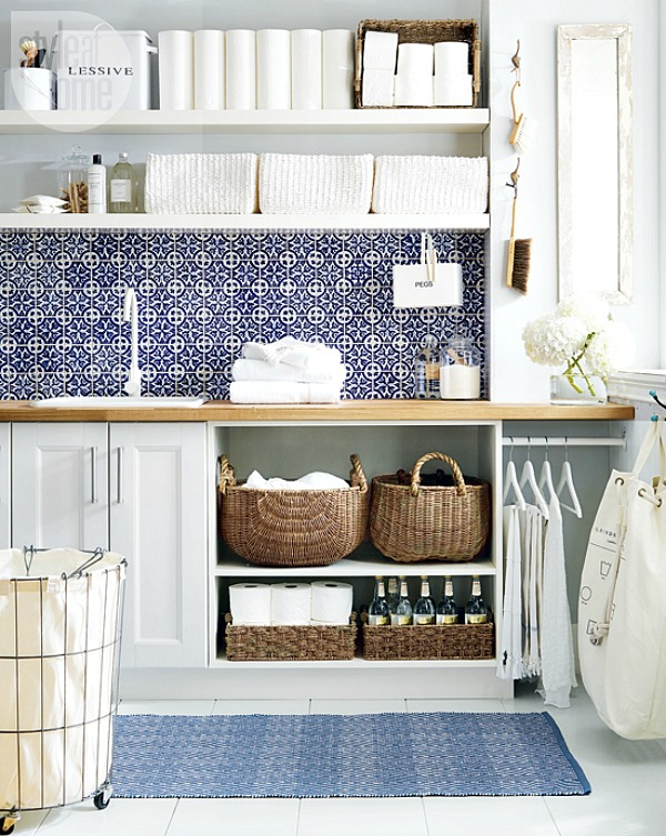 Great tips for laundry room organization.