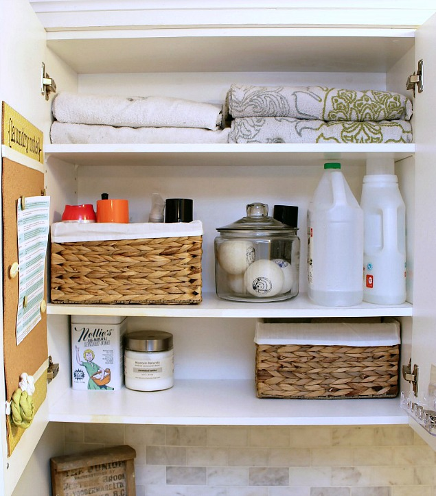 Get your laundry room organized and your laundry routine down with these tips and tricks. Free printables included. Part of The Household Organization Diet