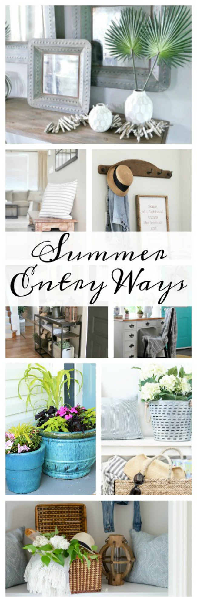 Beautiful summer decorating ideas for your front entry ways.