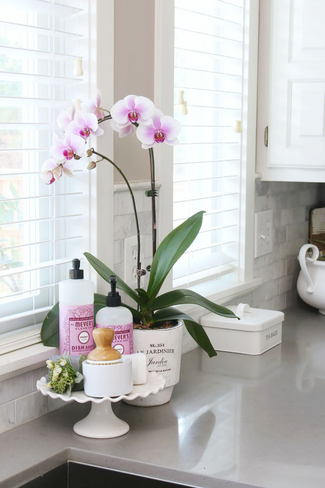 How to keep your counters clutter-free. Tips to create and maintain a pretty yet functional countertop space.