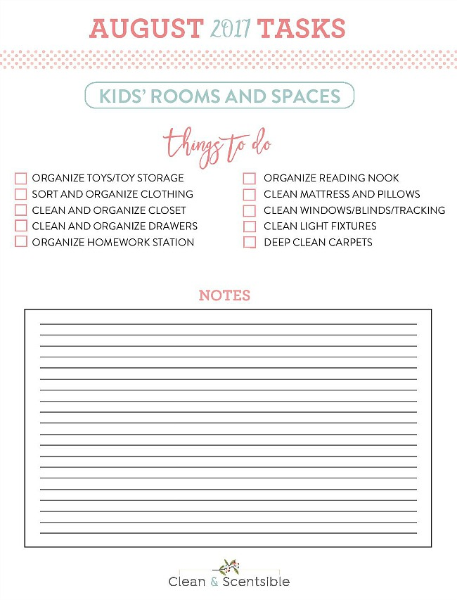 Kids' Bedroom Organization. Everything you need to get your kids' spaces cleaned and organized! Free printables included.