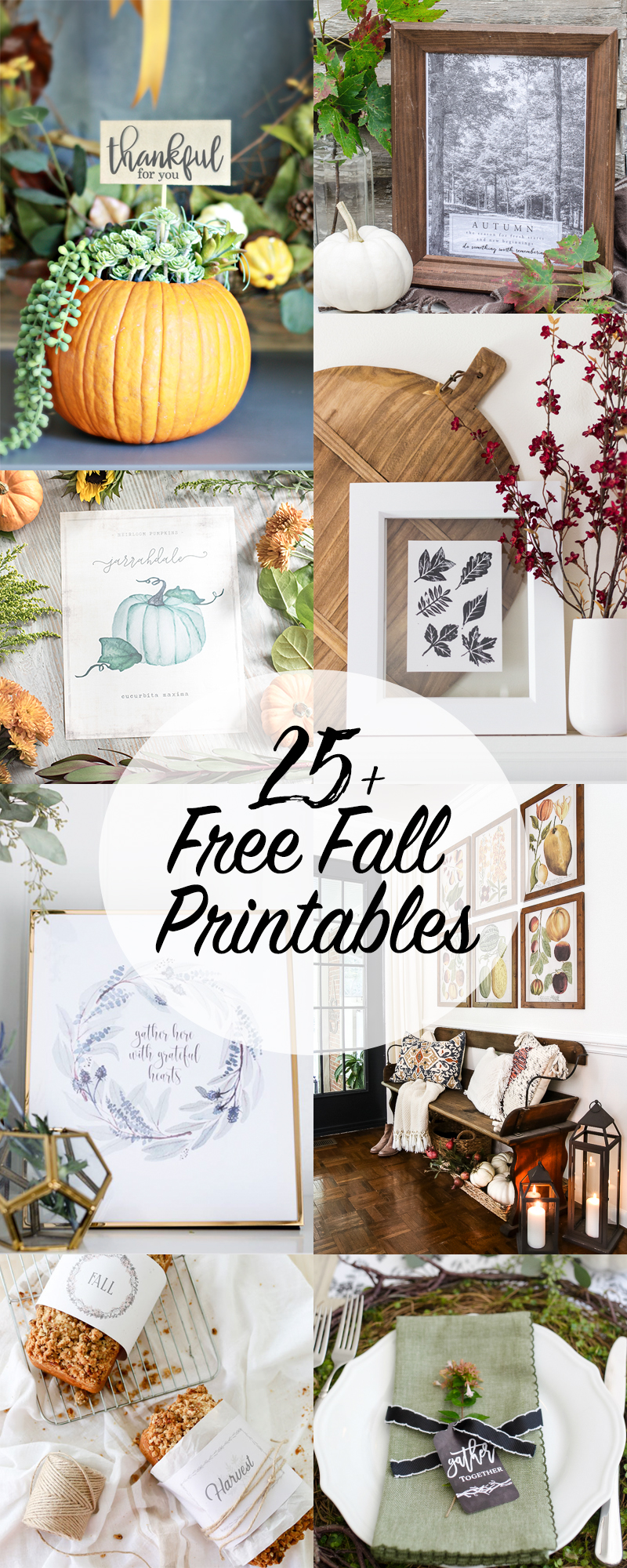 More than 25 gorgeous FREE fall printables to choose from!