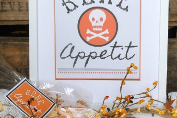 Bone Appetit Halloween Printables