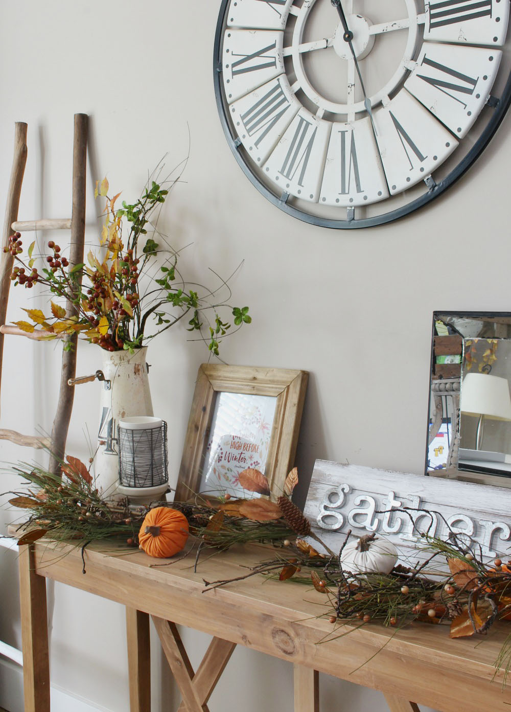 Pretty fall display.