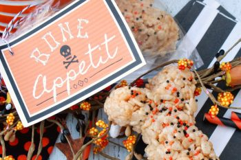 Halloween Rice Krispie Treats Bones