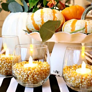 Quick and easy 10 minute Thanksgiving decorating ideas!