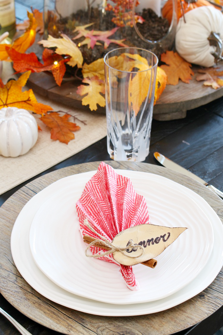 Easy Leaf Napkin Fold For Fall Or Thanksgiving Tablescape Clean And Scentsible