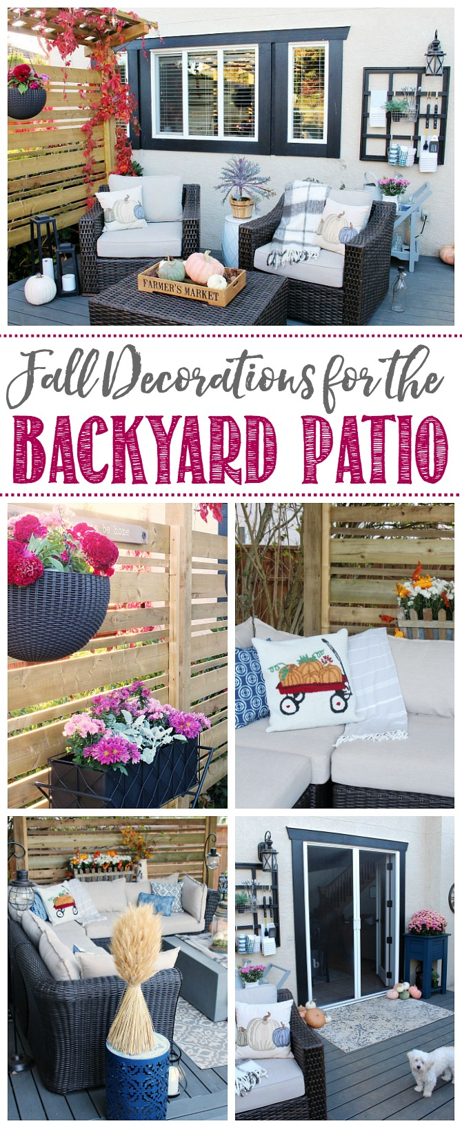 Simple and beautiful fall outdoor decorations for the patio. #fall #falldecor #ad