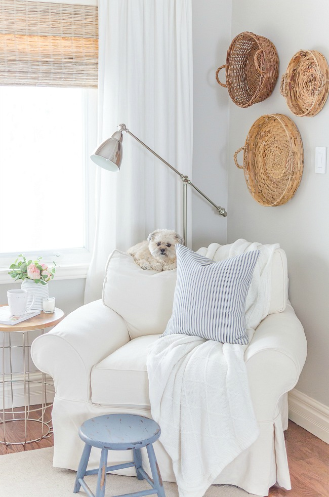 Create a cozy reading corner in your master bedroom.