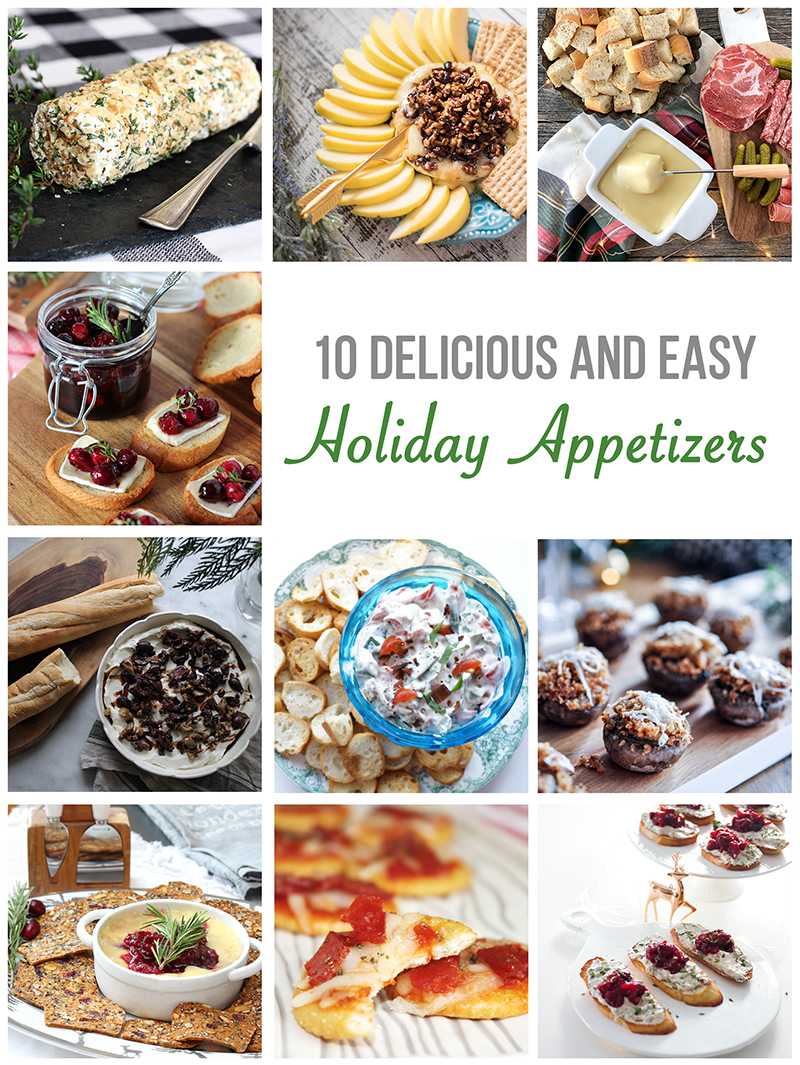 Delicious collection of simple holiday appetizers. A MUST pin for those holiday parties and gatherings! #appetizers #Christmasrecipes