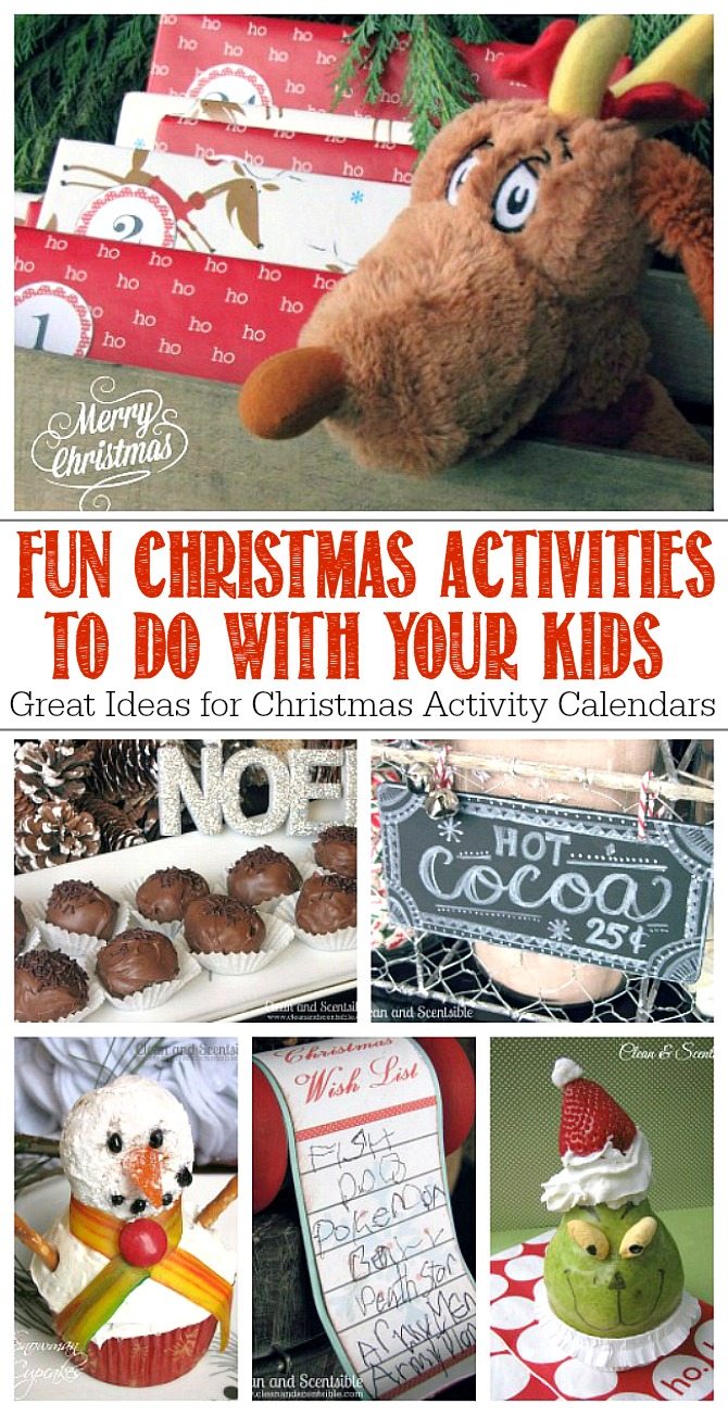 Fun Christmas Activities to do with Your Kids! Save this post and write down some ideas to do this year. Great for Christmas activity advents!