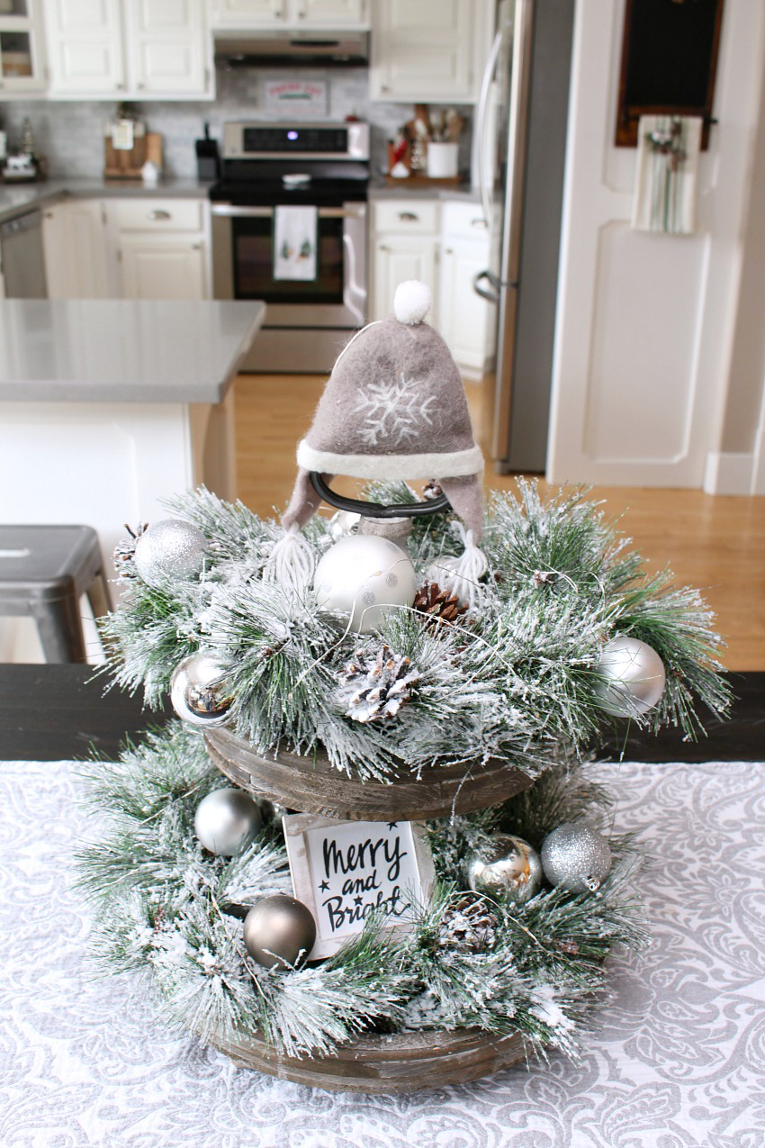 beautiful modern farmhouse christmas tray easy ideas to decorate a tray for christmas using flocked