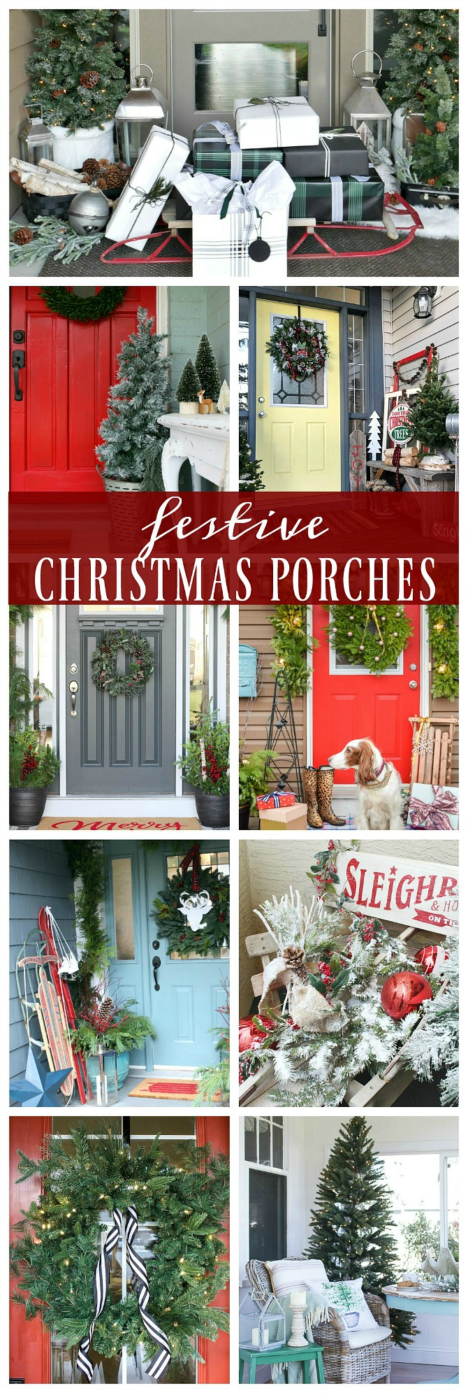 lots of beautiful christmas front porch ideas easy ideas that anyone can do