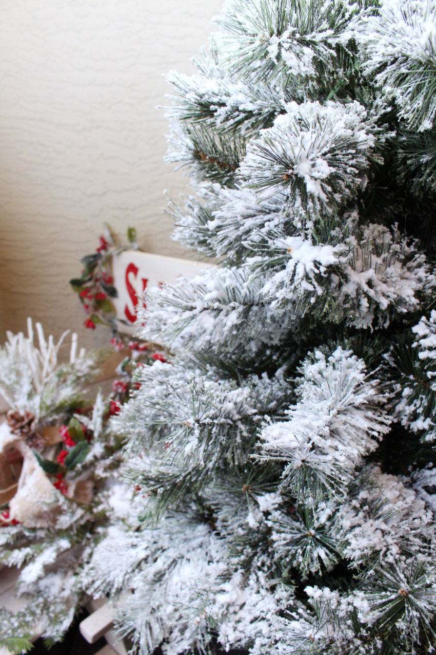 How to flock a christmas tree and other greenery clean and super easy diy tutorial on how to flock a christmas tree can be done on solutioingenieria Images