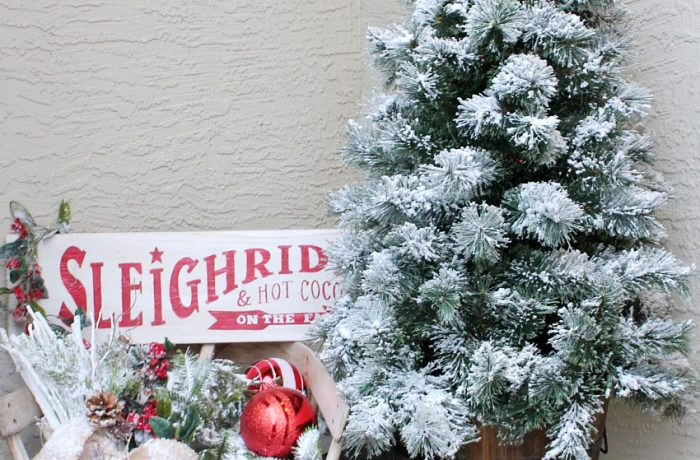 How to Flock a Christmas Tree {and other greenery!}