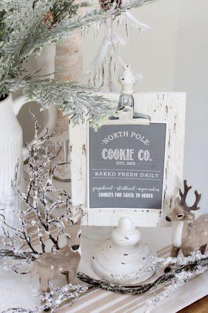 Free North Pole Cookie Co. Christmas Printable