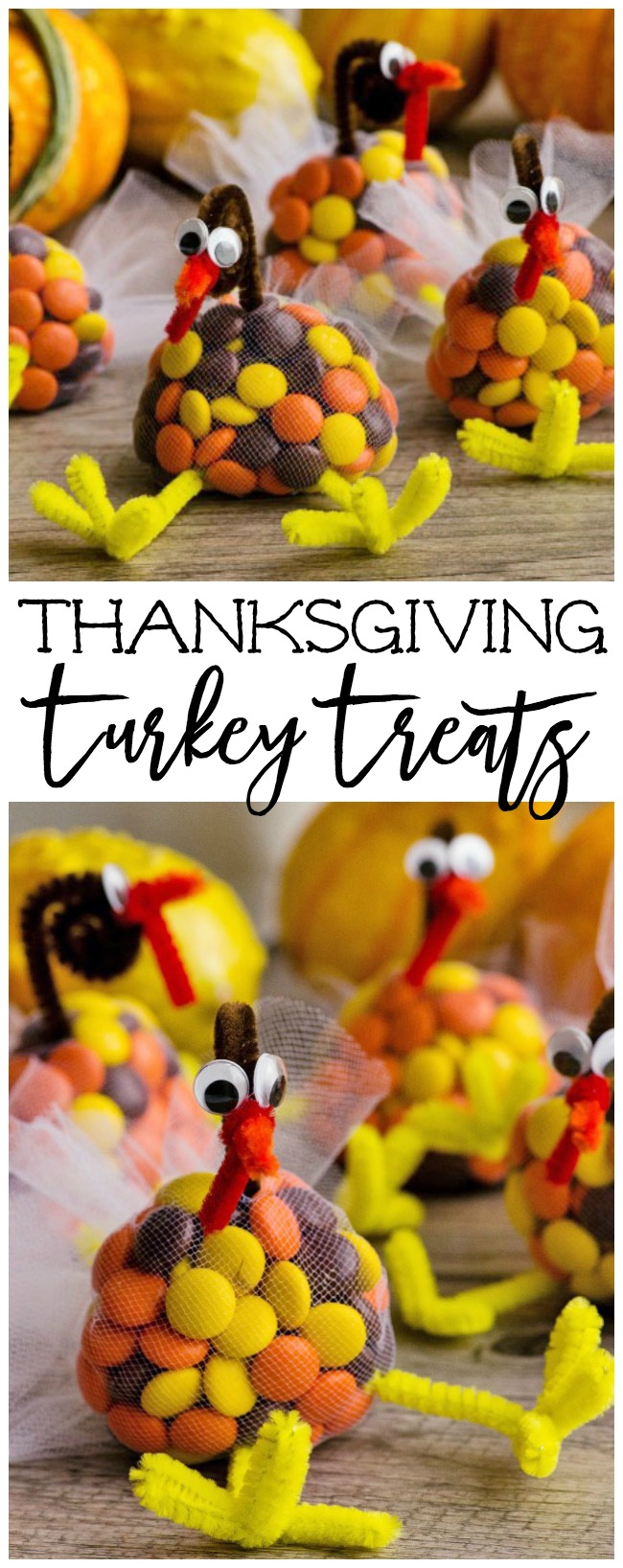 The cutest little Thanksgiving turkey treats! Decorate your Thanksgiving table, use as favours, or add them to your Thanksgiving kids' table!