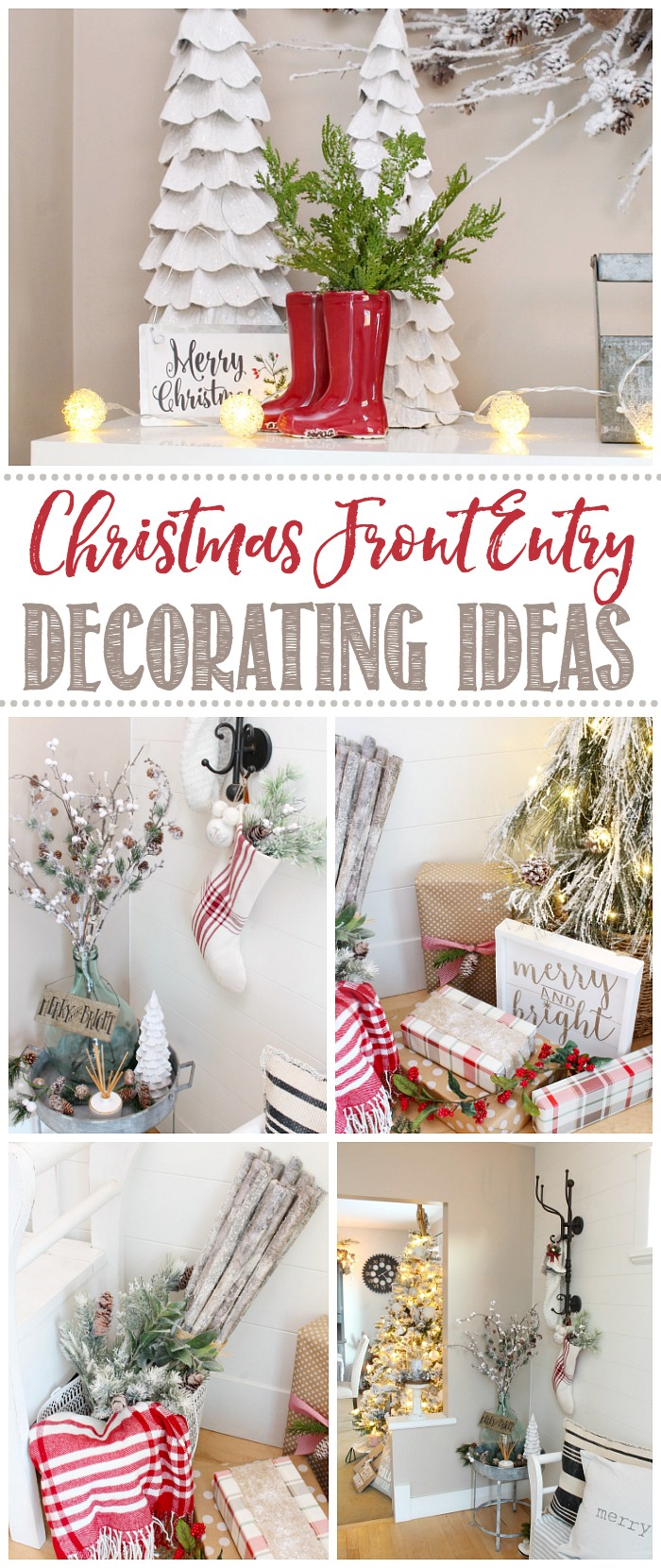 Christmas Front Entry Decorating Ideas
