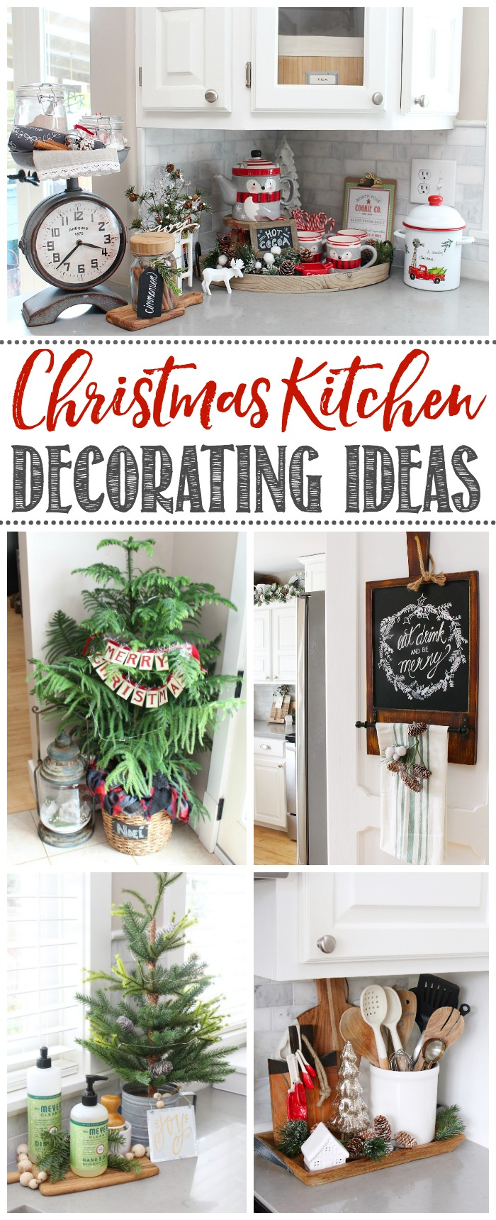 Christmas Kitchen Decorating Ideas. Lots of cute and simple ideas to help you decorate your own kitchen for Christmas.