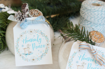 DIY Bath Salts Christmas Gift Idea and Free Printable Christmas Gift Tags