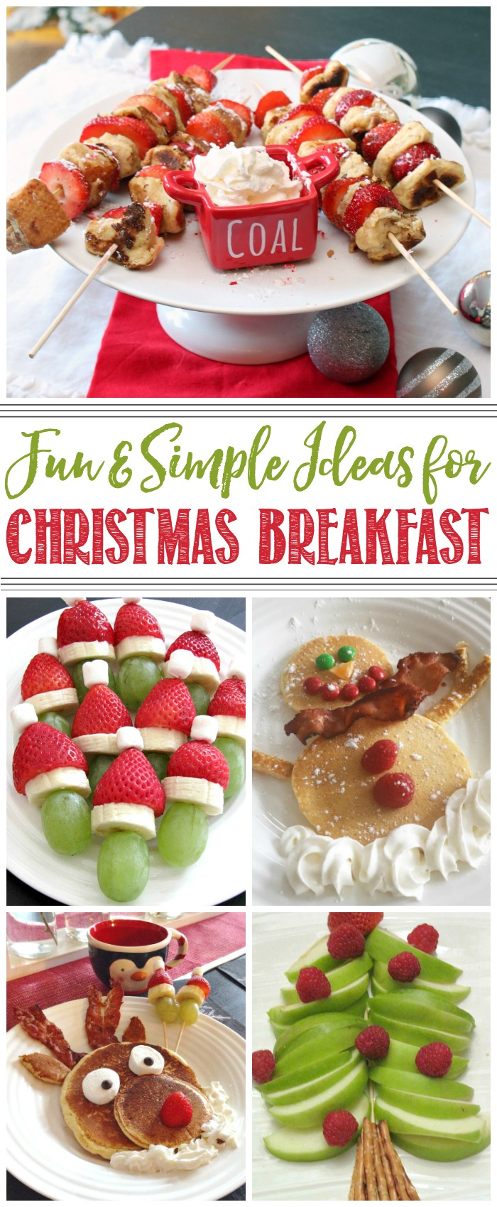 Fun and simple ideas for Christmas breakfast. I love all of these!