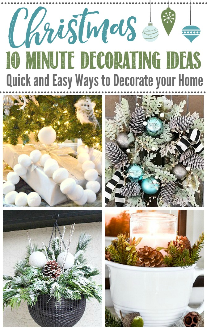 Quick and Easy DIY Christmas Decorating Ideas.