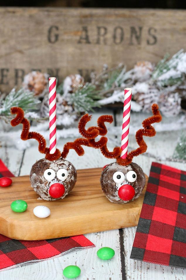 Reindeer donut holes.