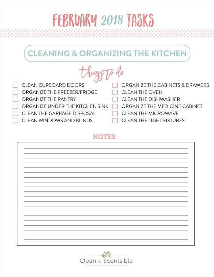 Everything you need to get your kitchen cleaned, decluttered, and organized. Kitchen tasks for The Household Organization Diet.