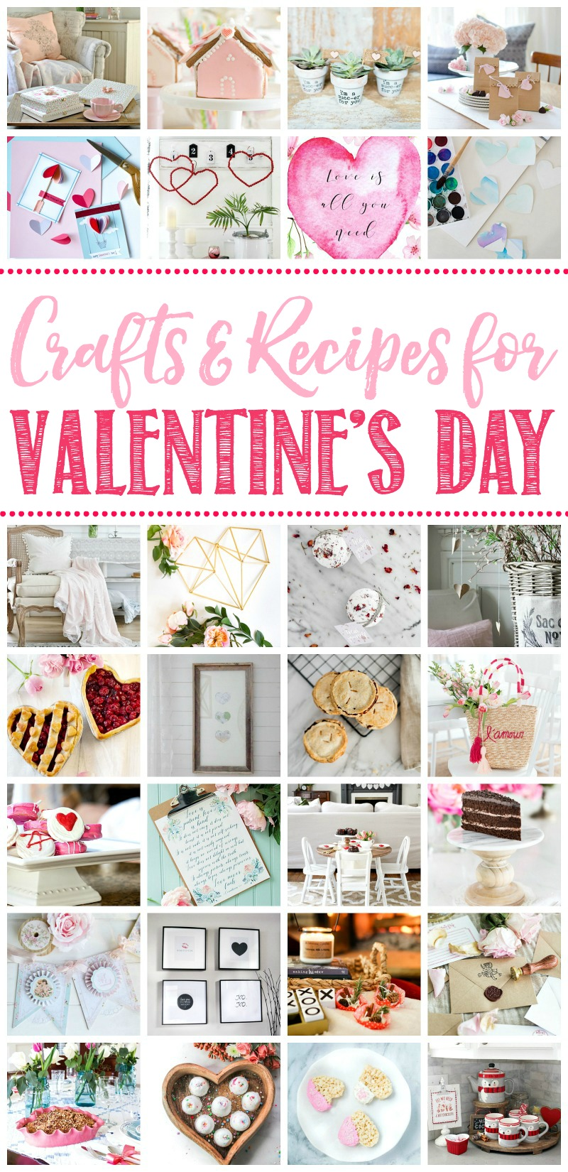 Beautiful collection of heartfelt handmade Valentine's Day crafts and recipes to help you celebrate Valentine's Day.