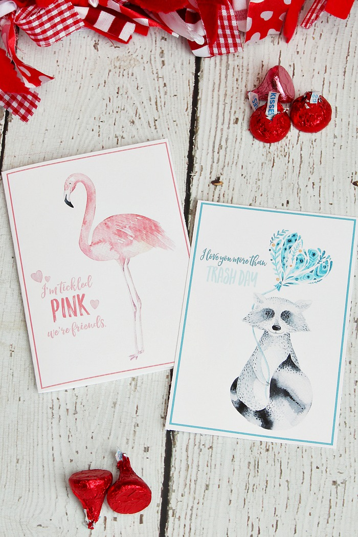 Free printable watercolor Valentine's Day cards. Cute designs!