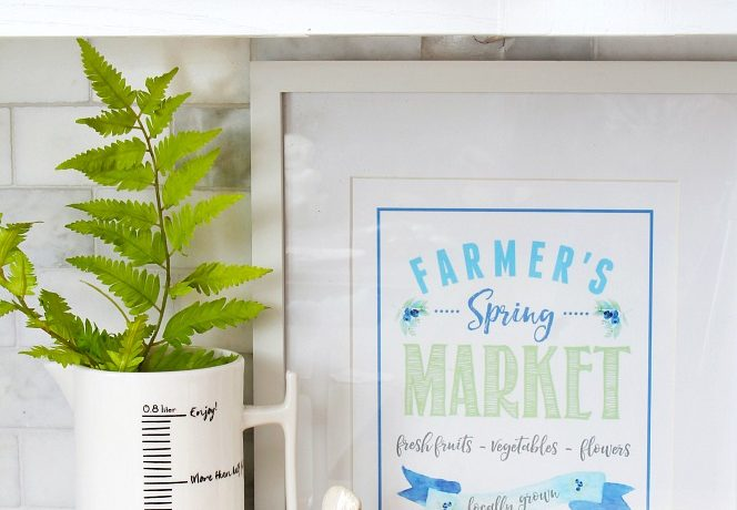 Farmer's Market Free Spring Printables