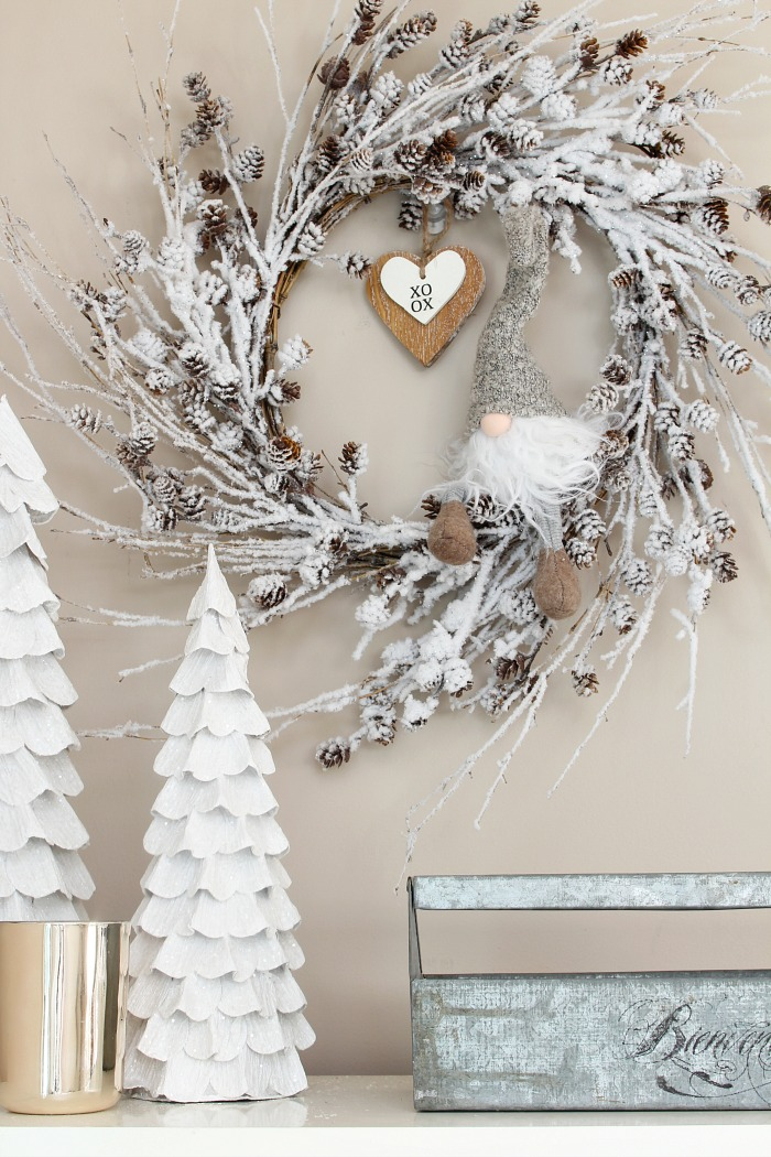 Simple Valentine's Day decorating ideas. Easy ways to transition from winter decor.