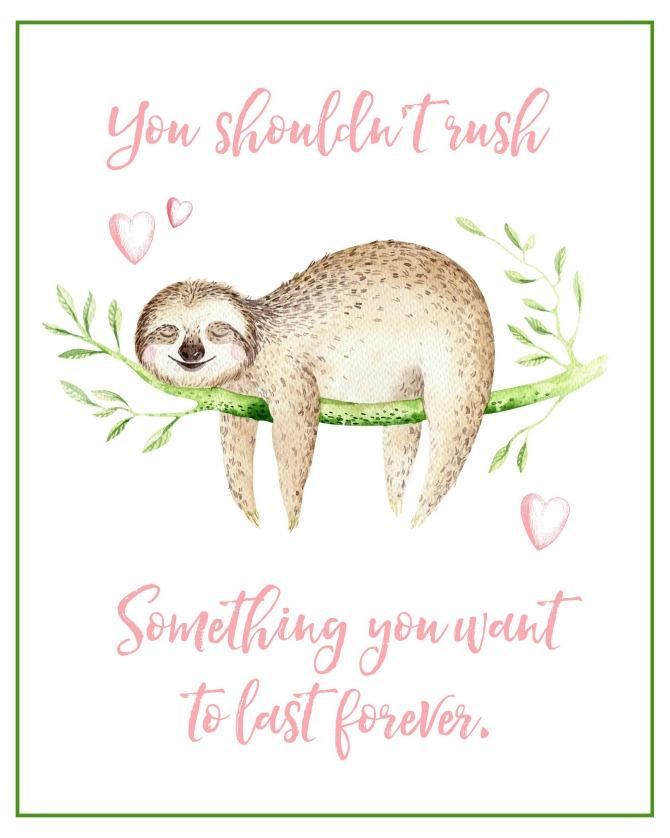 Free Sloth Valentine's Day Print