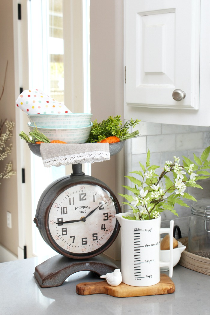 Simple Spring Decorations for the Kitchen - Clean and Scentsible