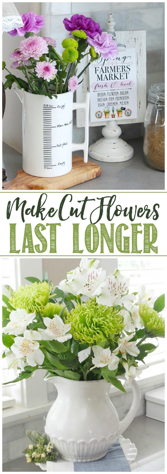 Make Cut Flowers Last Longer. Pretty flower bouquets.