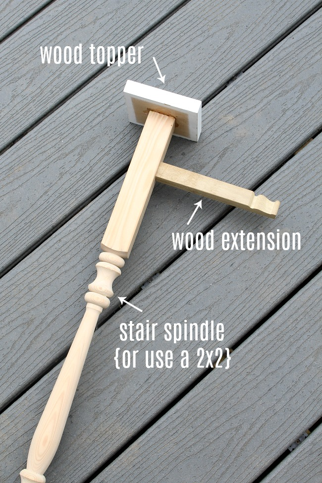 DIY tutorial for an outdoor wooden hanger.