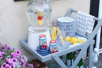 Summer Patio Outdoor Beverage Cart