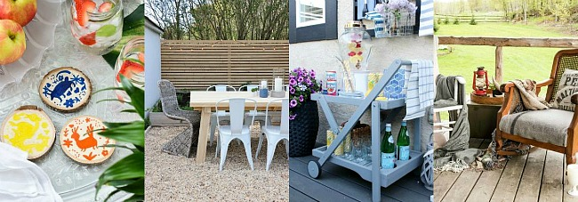 Collection of outdoor decorating ideas.