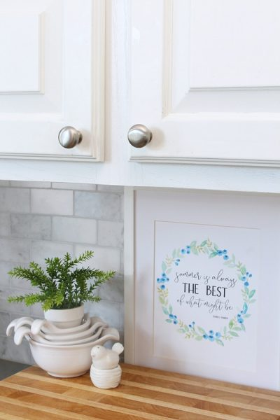 Free summer printable. The summer is always the best of what might be printable quote with blueberry wreath.