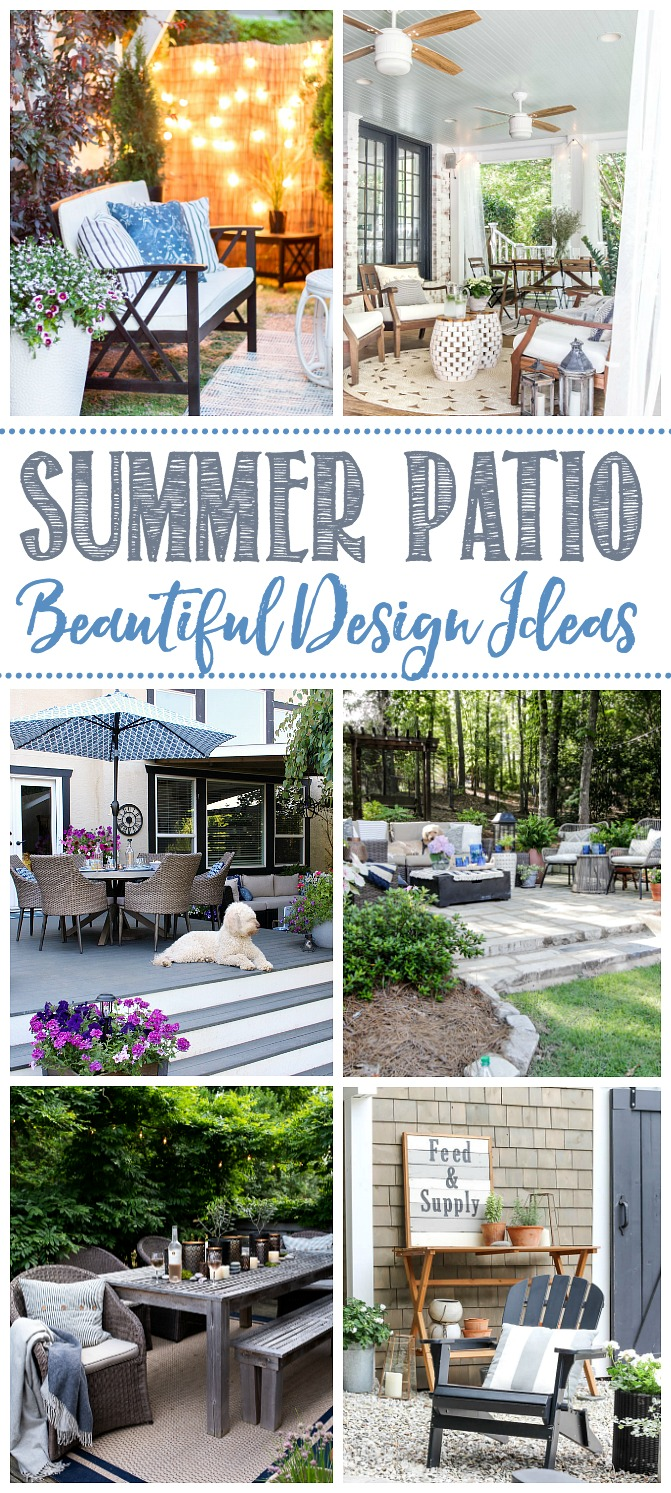 Beautiful collection of summer patios.