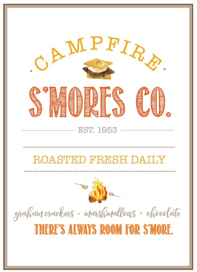 Campfire S'mores Co. free summer printable.
