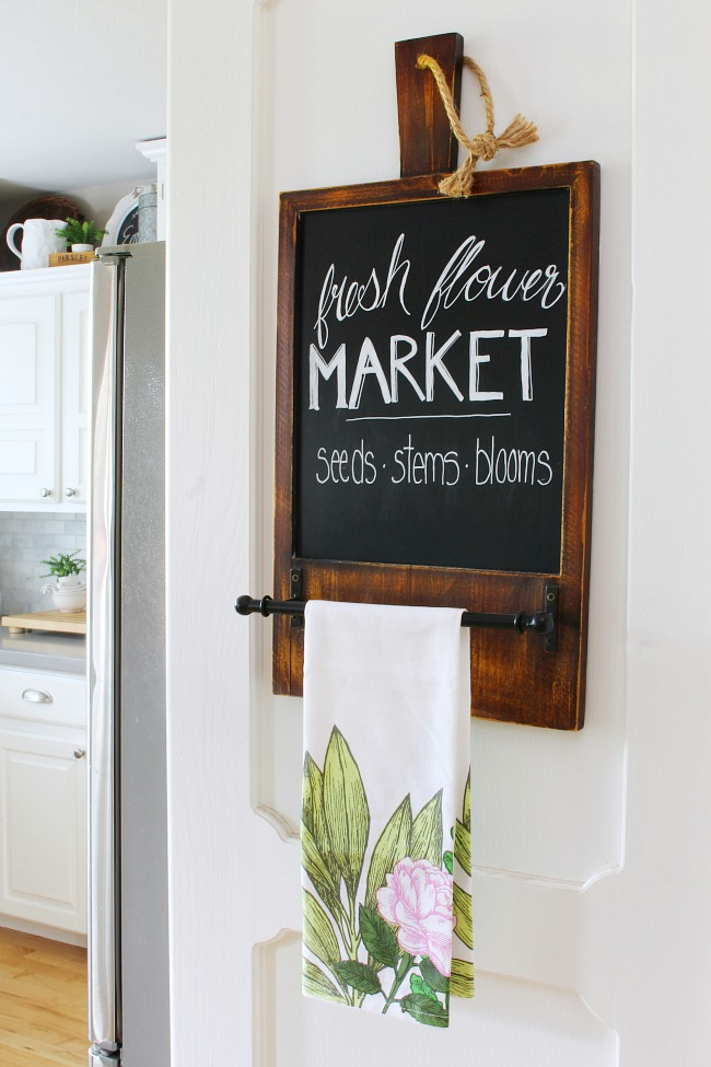 Fresh Flower Market Summer Chalkboard Art