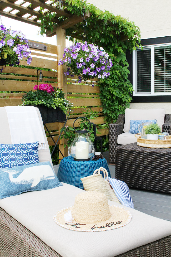 Outdoor Living - Summer Patio Decorating Ideas - Clean and ... on Backyard Deck Decor id=99344