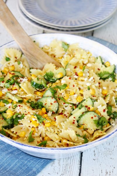 Cucumber and Sweet Corn Pasta Salad Recipe