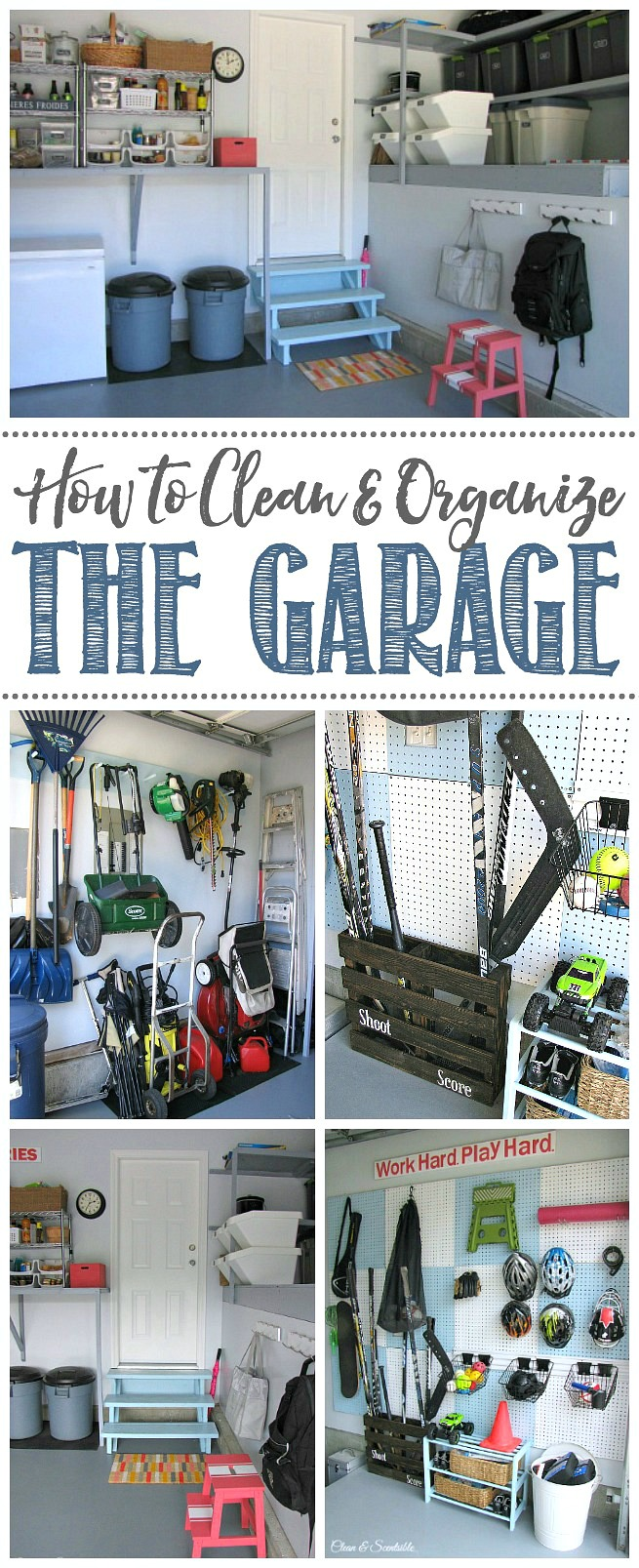 Collection of garage organization ideas.